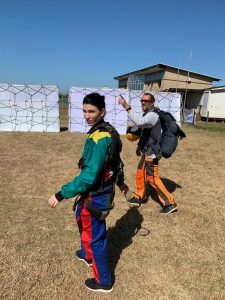 Daniela senekal, project rhino, jumping for rhino, skydiving