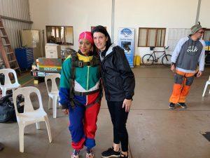 Princess Nandi Zulu, Daniela senekal, project rhino, jumping for rhino, skydiving