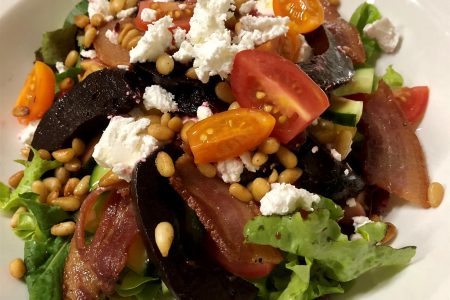Balsamic Roasted Beetroot & Toasted Pine Kernel Salad